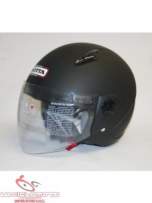 Casco jet Isotta new city con visiera nero opaco
