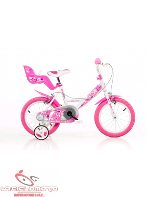 Bici 16 little heart rosa