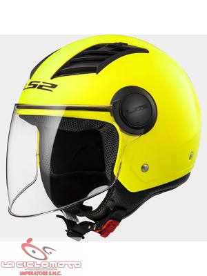 Casco jet con visiera LS2 OF562 Airflow Giallo