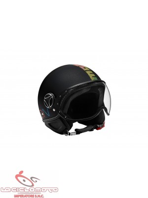 Casco Momo jet fighter pixel nero opaco - multicolor