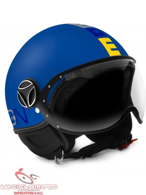 Casco jet bambino Momo Design Fighter Baby Blu opaco
