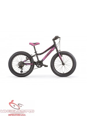 bici 24 drift fat bike 6 v nero opaco viola