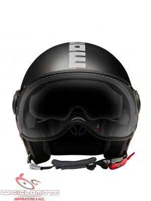 Casco jet Momo Design Fighter Evo Joker nero opaco - grigio scuro
